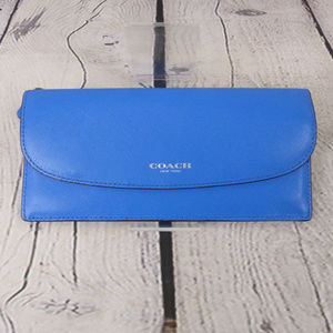 AUTHENTIC COACH Envelope Wallet in Blue